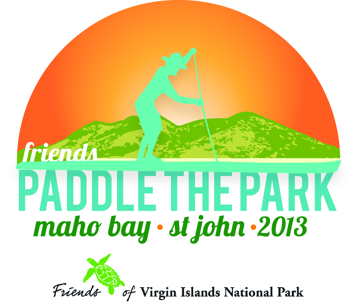 paddle the park logo with friends logo