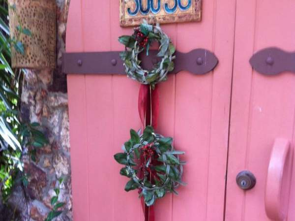 One of Martha's holiday wreaths