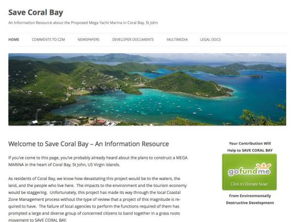 save coral bay website