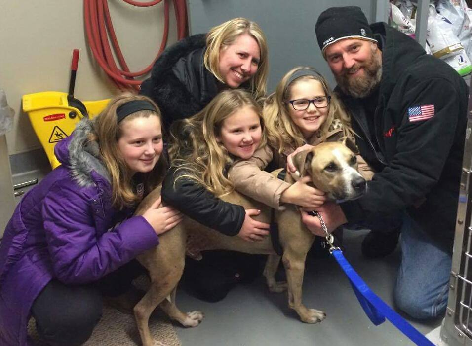 Moose and his new family