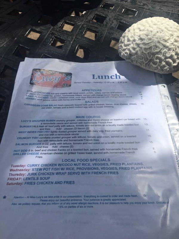 miss lucys menu