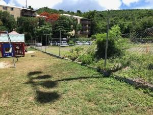 Broken playground fence
