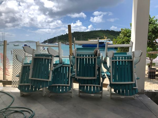 Chairs Rum Hut July 2019