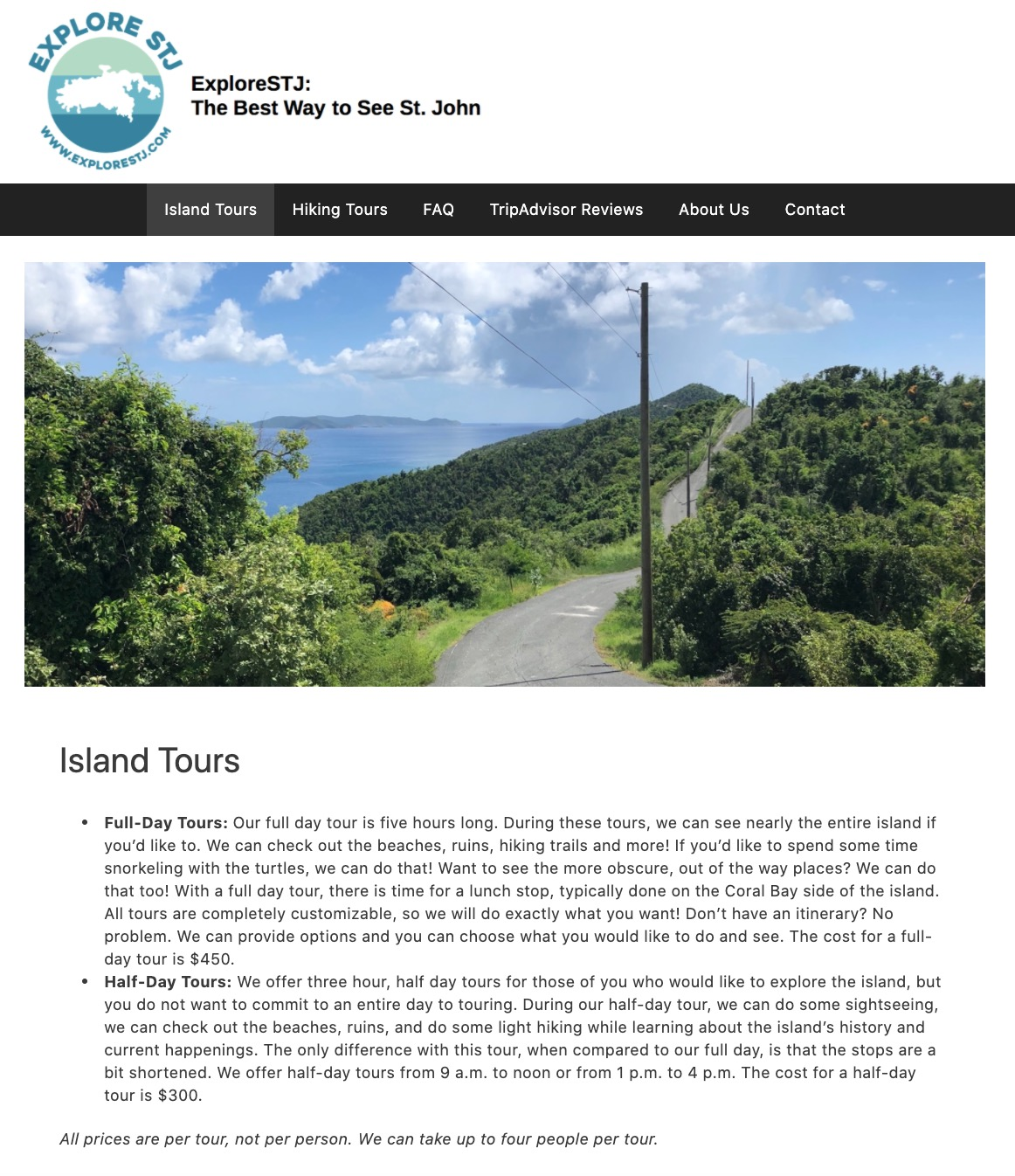 Introducing Explore STJ... Our Island Tours Have a New Name & New Look! 5