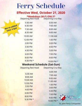 Updated Ferry Schedule and Online Ticketing 1